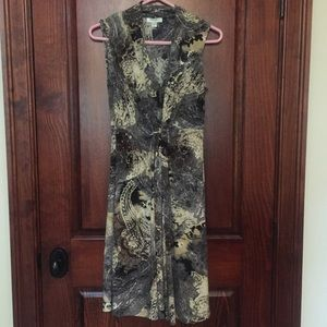 Grey Print Dress, Size 4